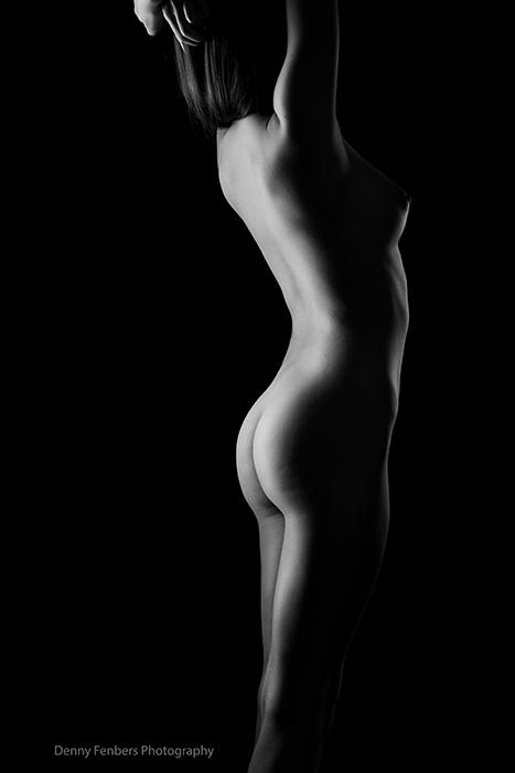 Standing Dark Artistic Nude