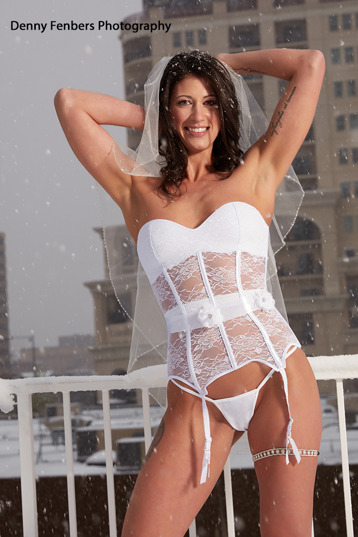 Denver Bridal Boudoir in the Snow
