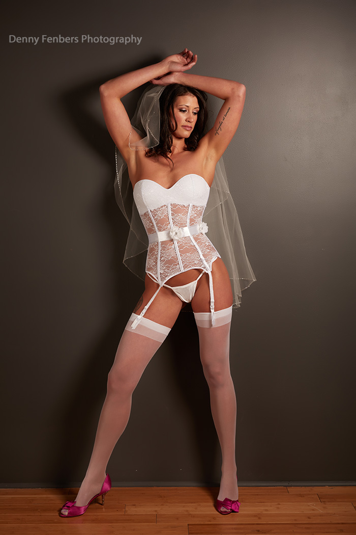 White Lingerie Bridal Boudoir Photography