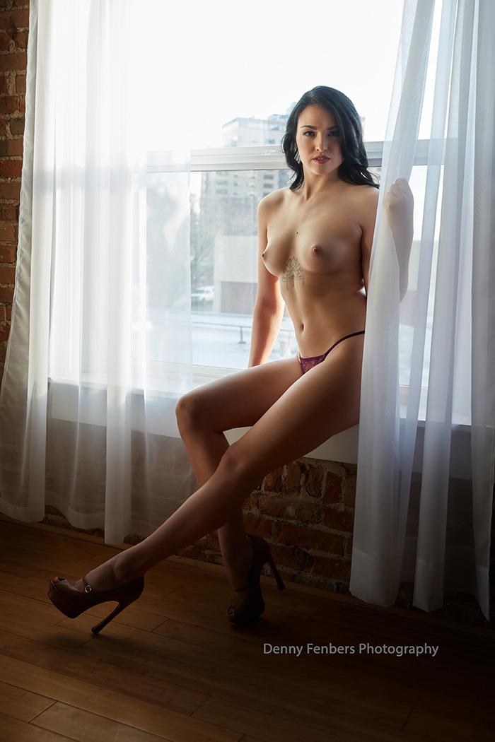 Long Legs and Window Denver Colorado Boudoir Photography