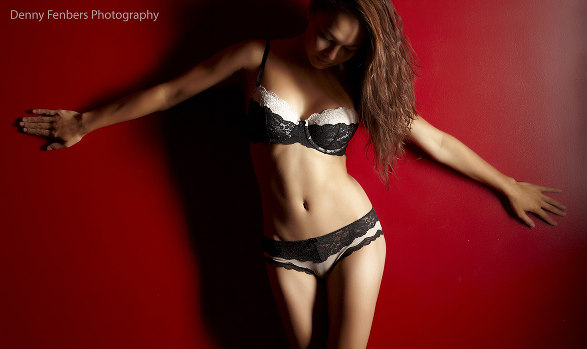 Denver Boudoir Photography - Red Wall