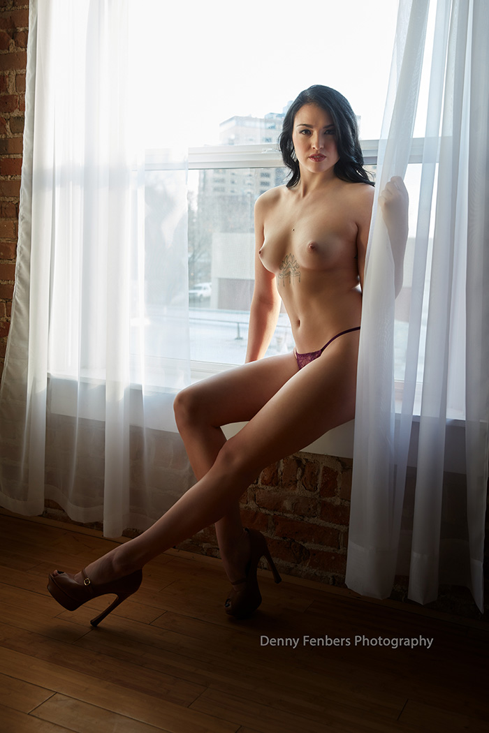 Long Legs and Window Denver Colorado Boudoir Photography
