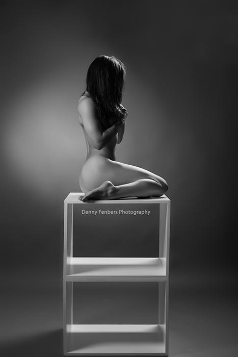 Naked on box sitting Colorado boudoir
