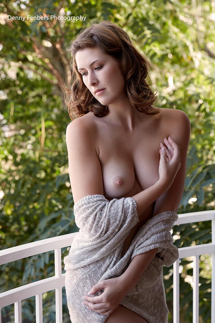 Elegant Partial Nude Colorado Balcony