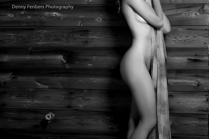 Implied Nude Wood Outside