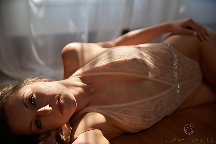 soft light elegant Colorado boudoir pic